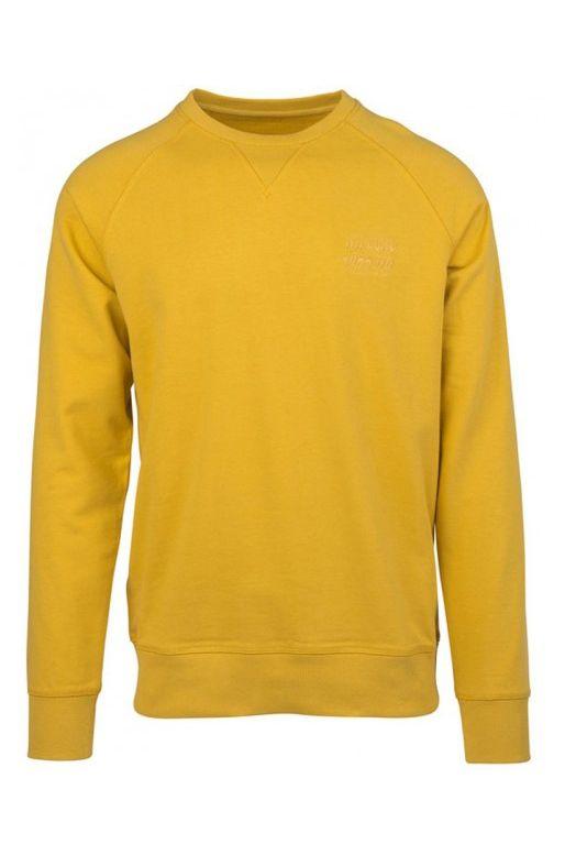 Rip Curl Sweat Zip Hood ORGANIC PLAIN CREW Dirty Yellow