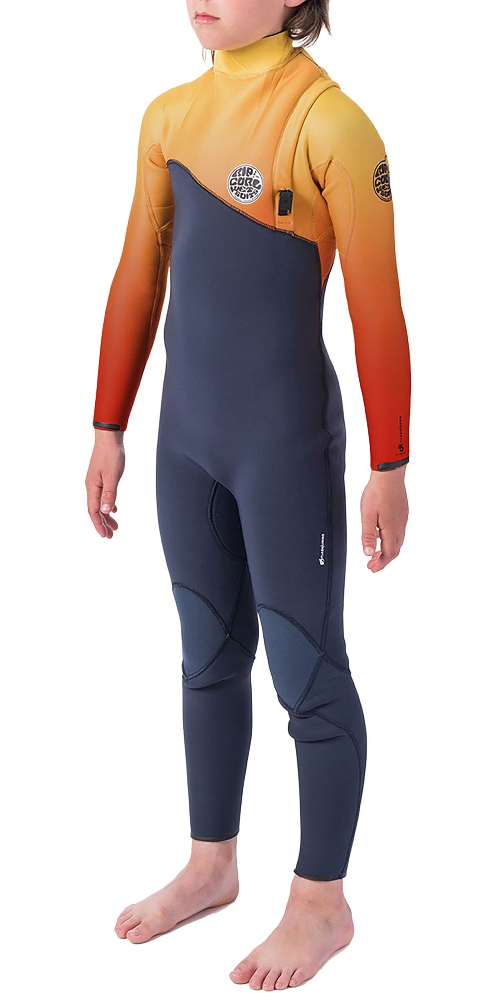 Rip Curl Wetsuit FLASH-BOMB ZIP FREE 4/3 - SUB Orange