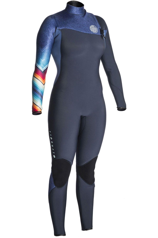 Rip Curl Wetsuit WOMENS GBOMB ZF 3/2 STEAMER (SUB) Denim Blue
