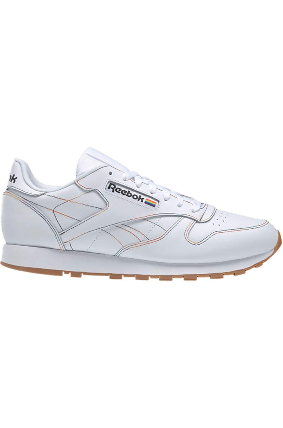 Tenis Reebok CL LTHR White/Emeral/Cobalt