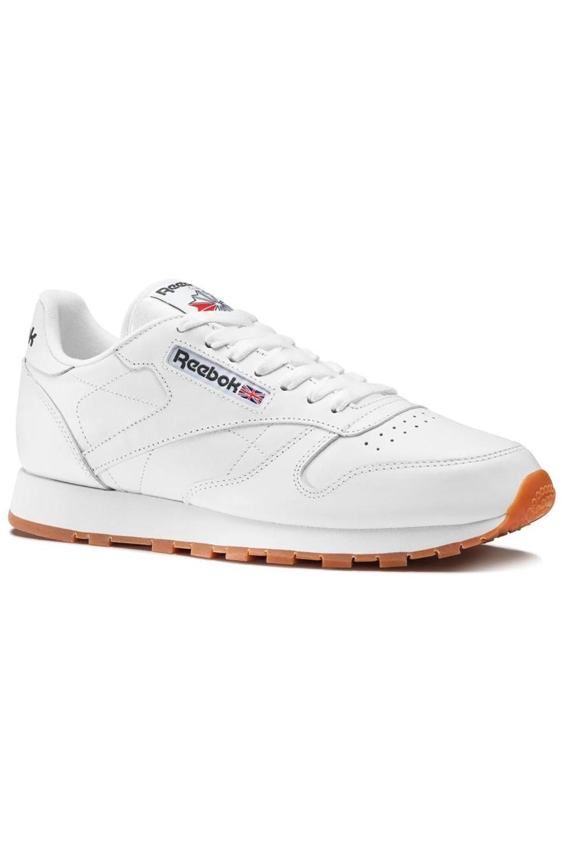 Tenis Reebok CL LTHR Int-White/Gum