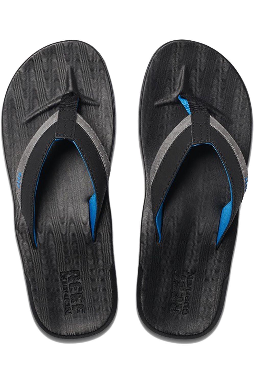 Chinelos Reef CONTOURED CUSHION Black/Grey/Blue