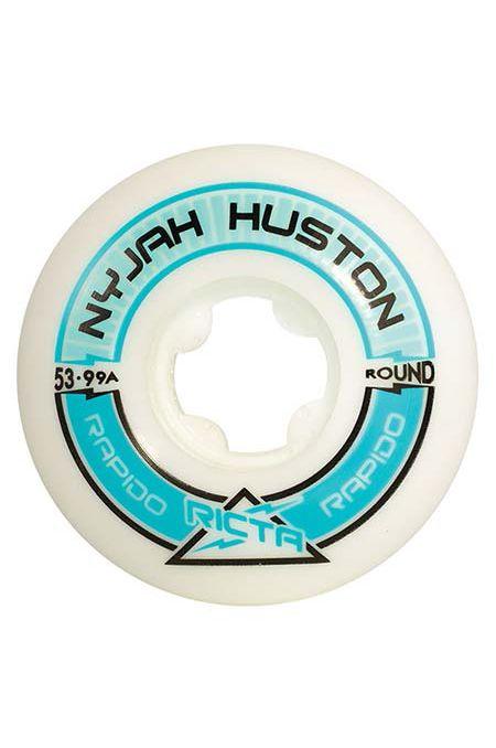 Ricta Skate Wheels 53MM NYJAH HUSTON PRO RAPIDO ROUND Blue
