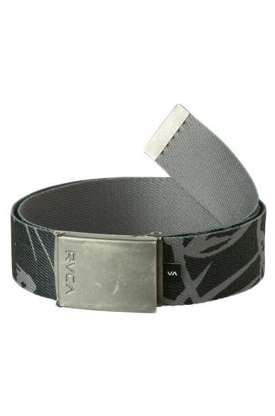 RVCA Belt BLOCK PRINT WEB Pirate Black