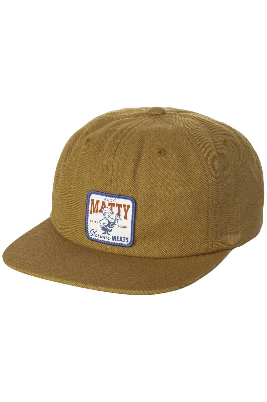 RVCA Cap   MATTYS SNAPBACK Brown