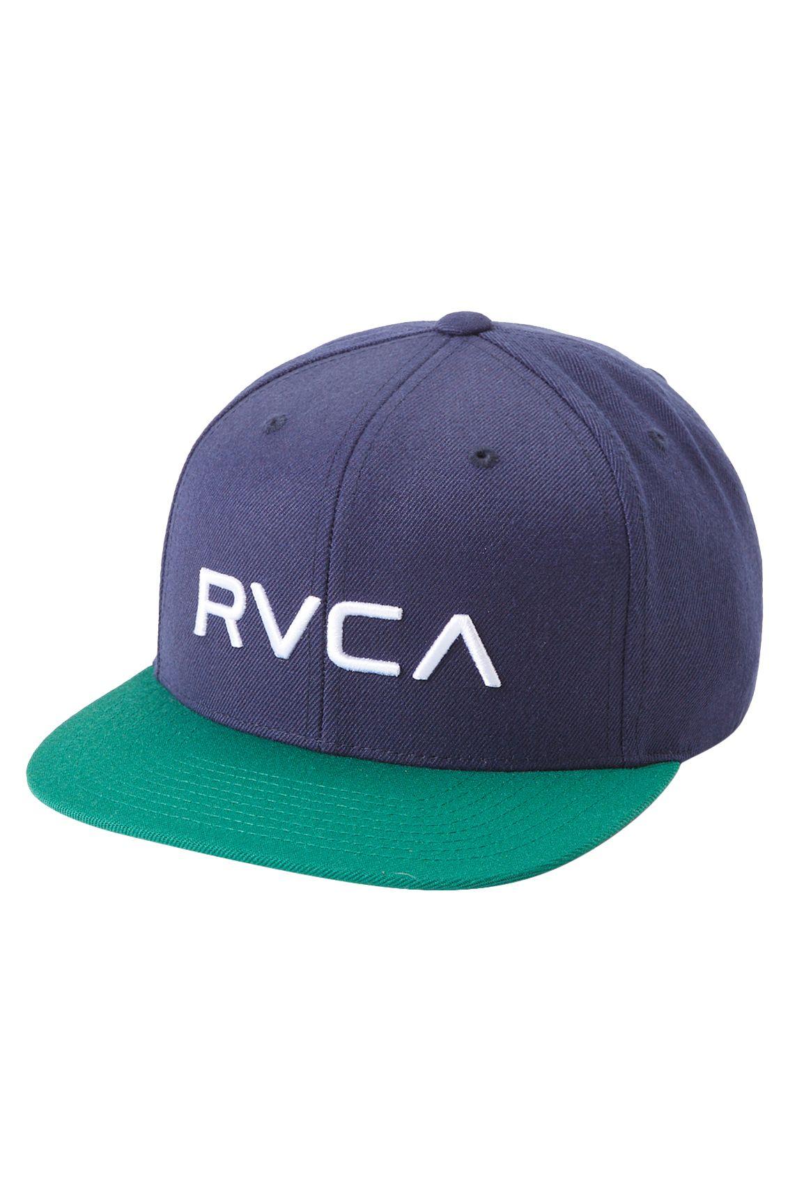 RVCA Cap   RVCA TWILL SNAPBACK Navy/Green