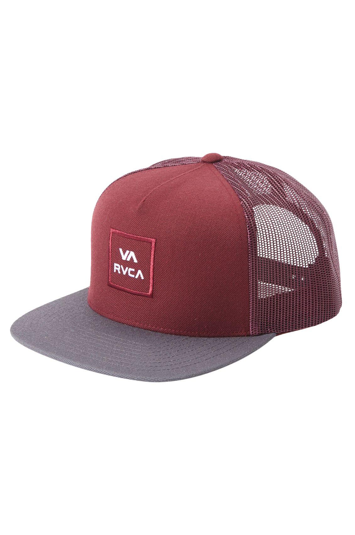 RVCA Cap   VA ALL THE WAY TRUCK Oxblood Red