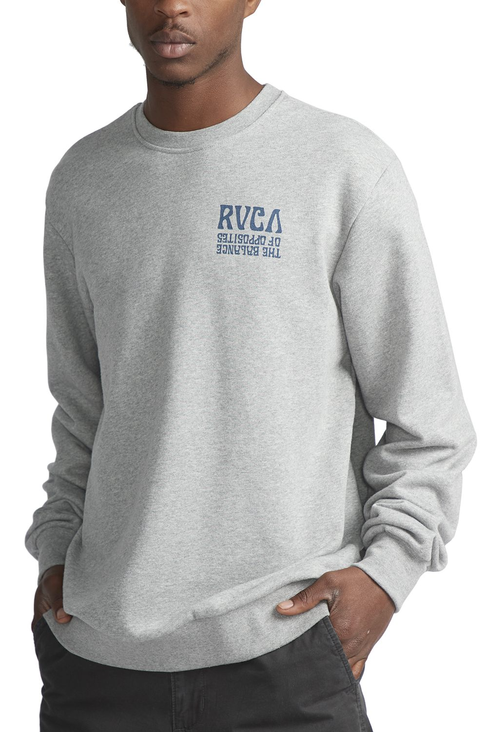 RVCA Crew Sweat DAYBREAK Athletic Heather