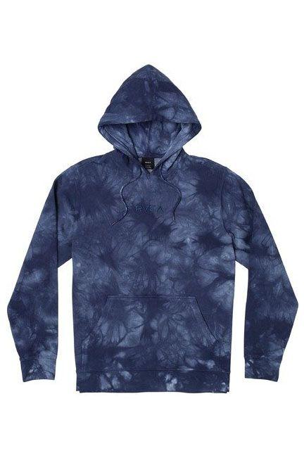 Sweat Capuz RVCA TONALLY TIE DYE HOOD Blue Tie Dye