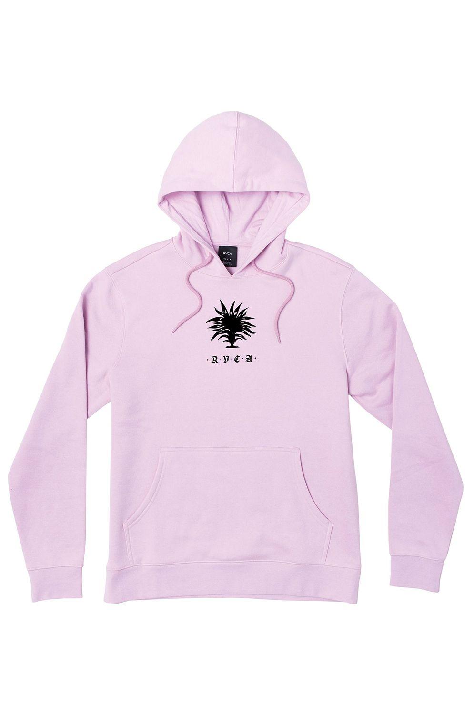 Sweat Capuz RVCA FAUNA HOODIE JESSE BROWN Chalky Pink