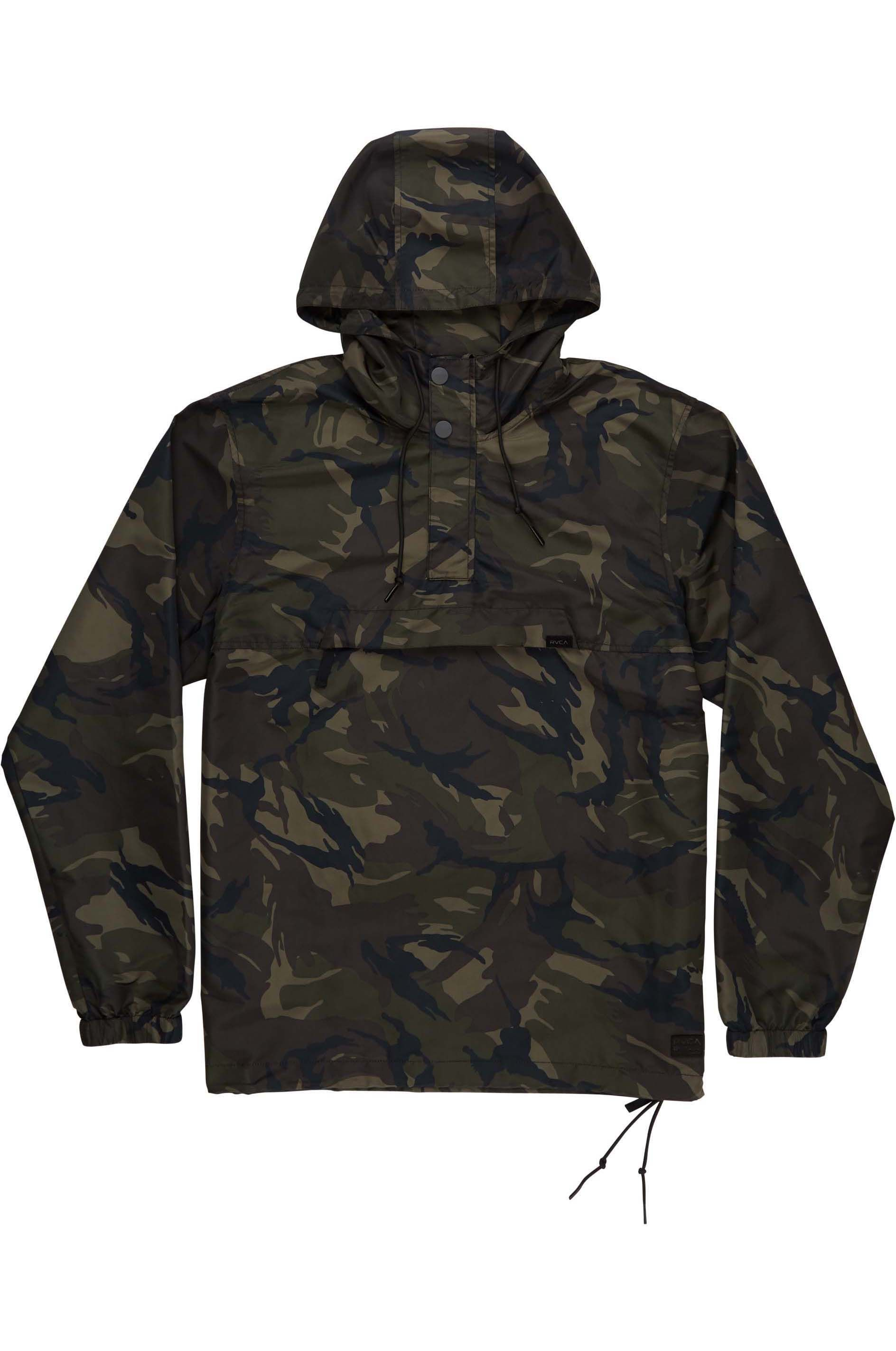 RVCA Jacket PACKAWAY ANORAK II Woodland Camo