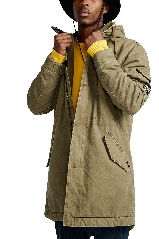 RVCA Jacket STANDARD ISSUE PARKA Cadet Green