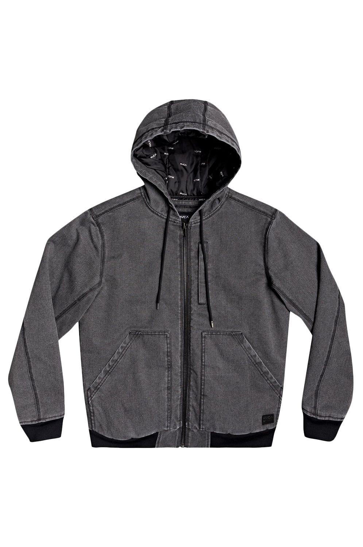RVCA Jacket HOODED CANVAS BOMBER Rvca Black