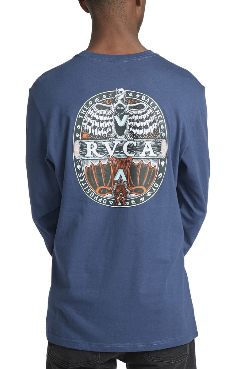 RVCA L-Sleeve MANDER MARTIN ANDER Seattle Blue