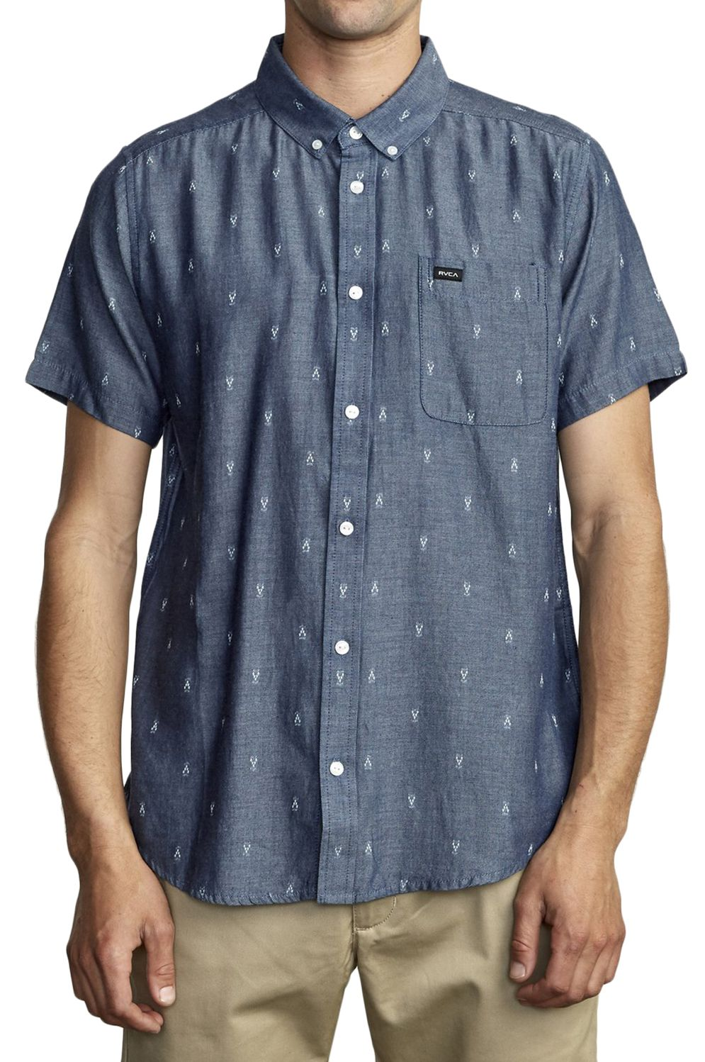 Camisa RVCA THATLL DO DOBBY SS Denim