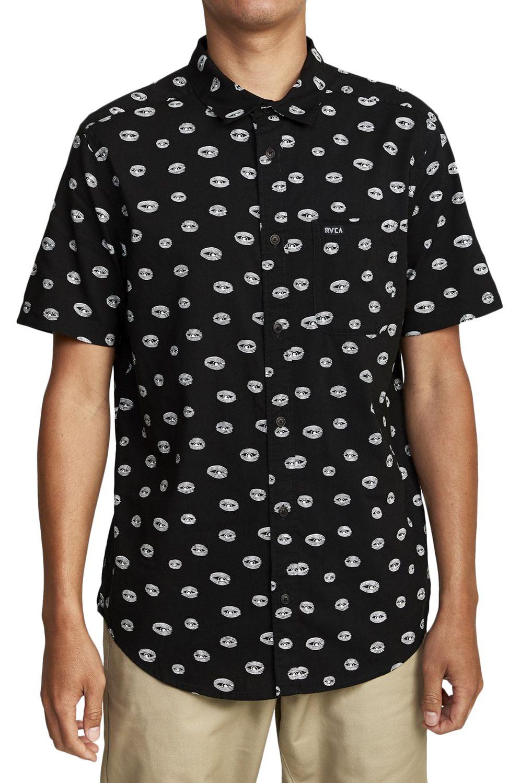 Camisa RVCA TEMPLETON EYES SS Black