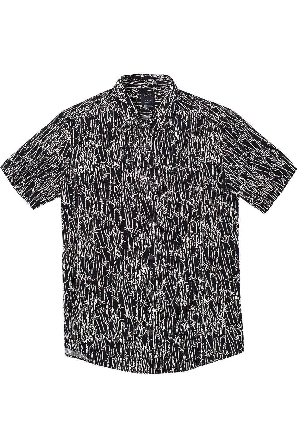 RVCA Shirt JUNGLE FUZZ SS Black