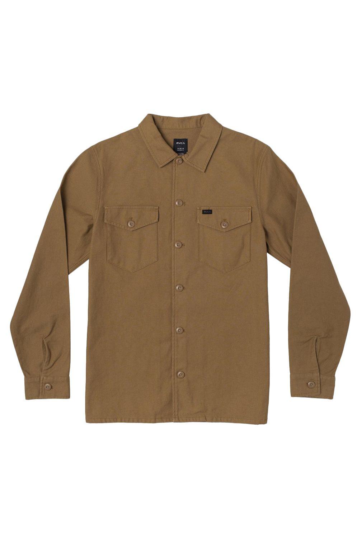 RVCA Shirt FUBAR SHIRT JACKET Camel