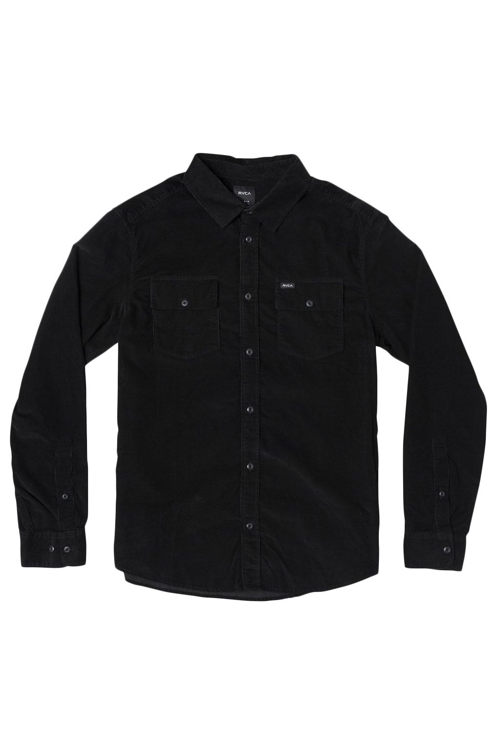 RVCA Shirt FREEMAN CORD LS Black