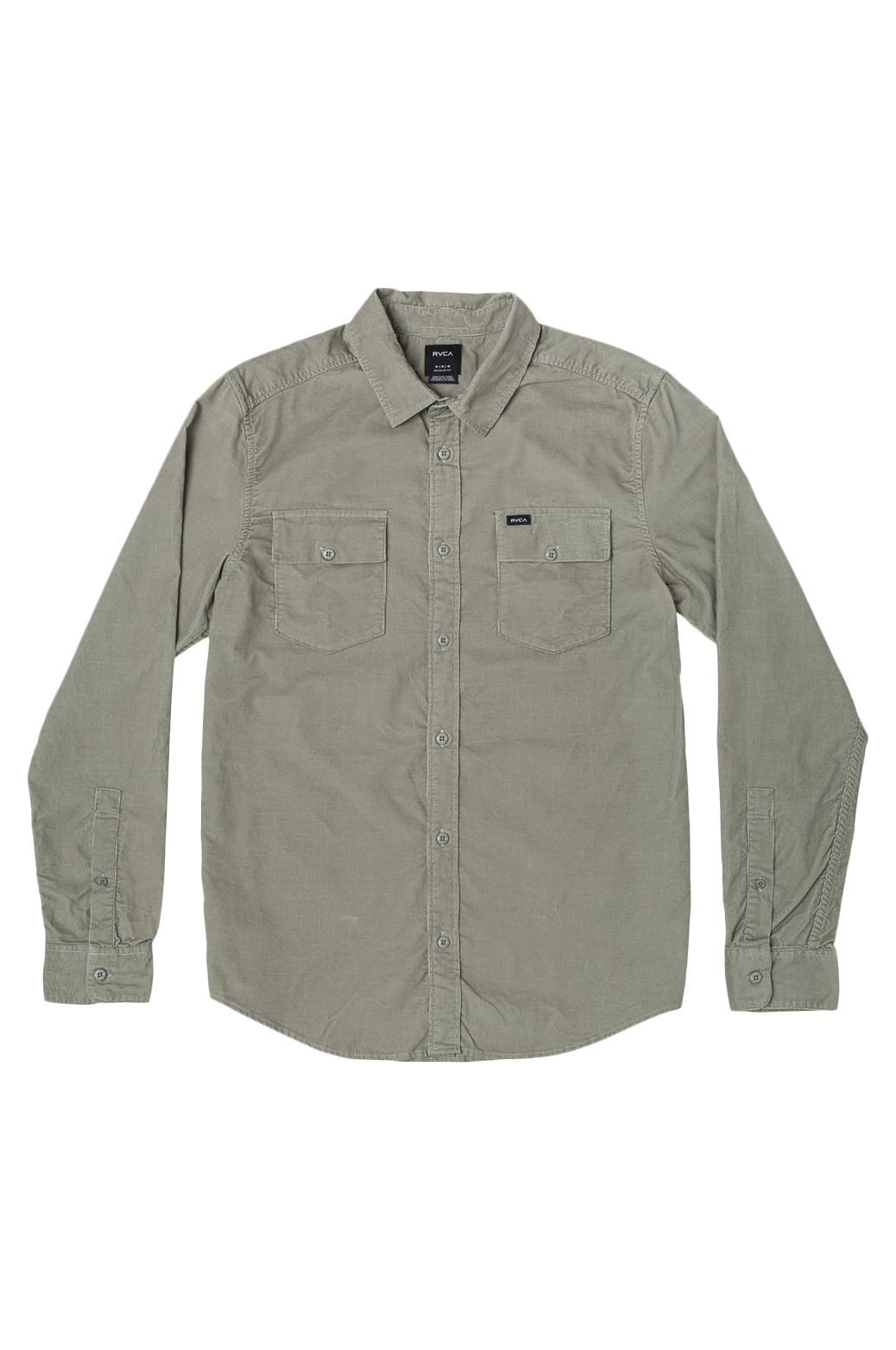 RVCA Shirt FREEMAN CORD LS Aloe