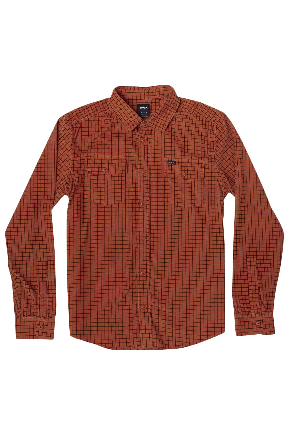 RVCA Shirt FREEMAN CORD LS Rust