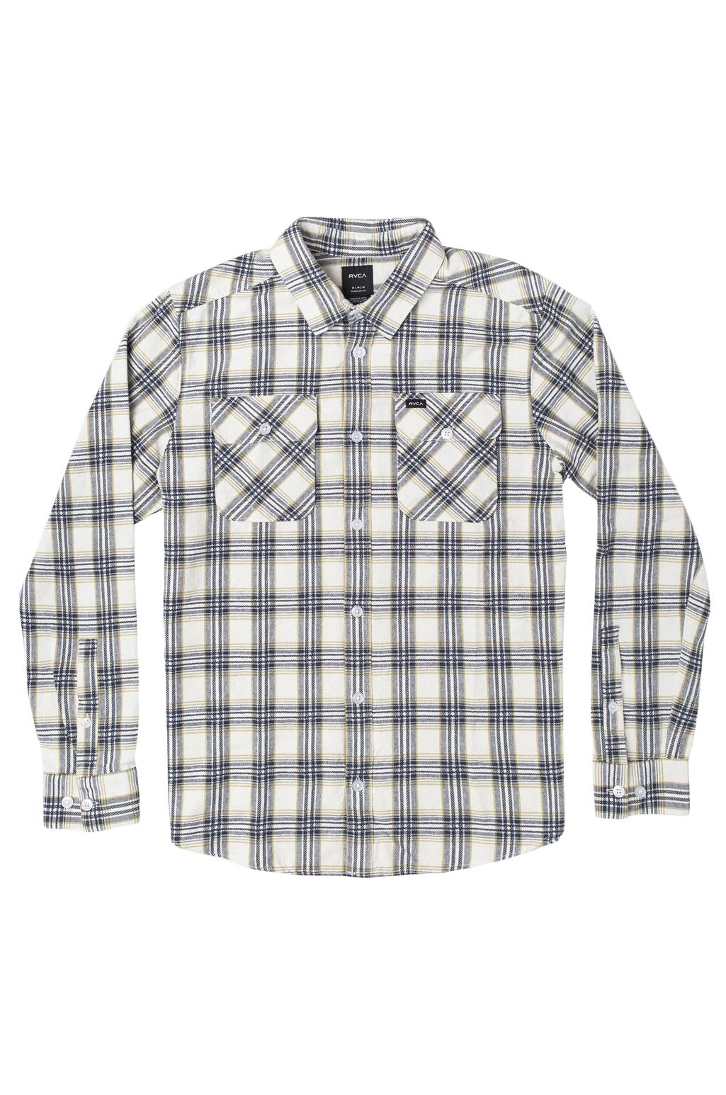 RVCA Shirt THATLL WORK FLANNEL Antique White