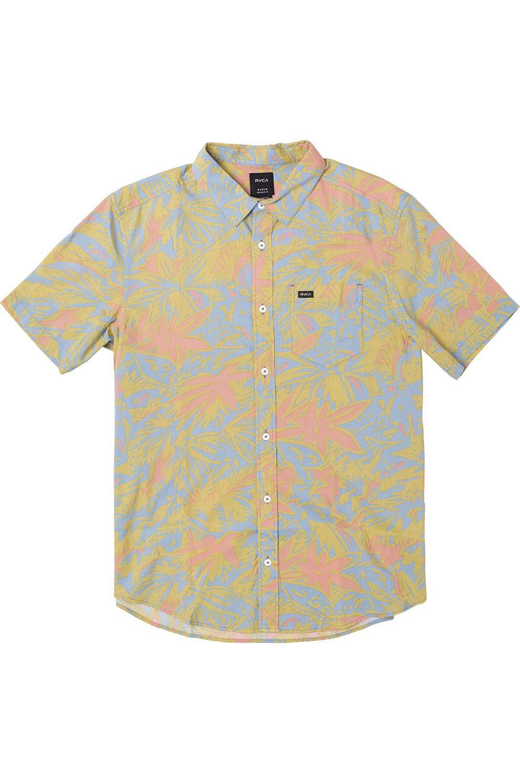 Camisa RVCA SANDERSON FLORAL SS Ash Blue