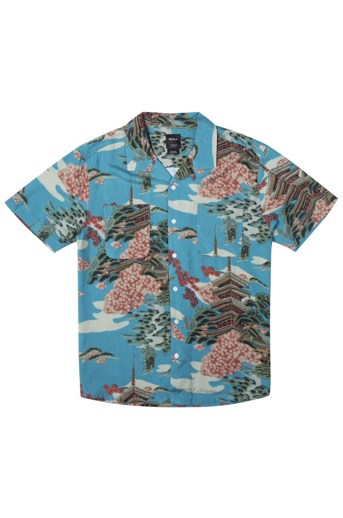 Camisa RVCA KYUKA SS Horizon Blue