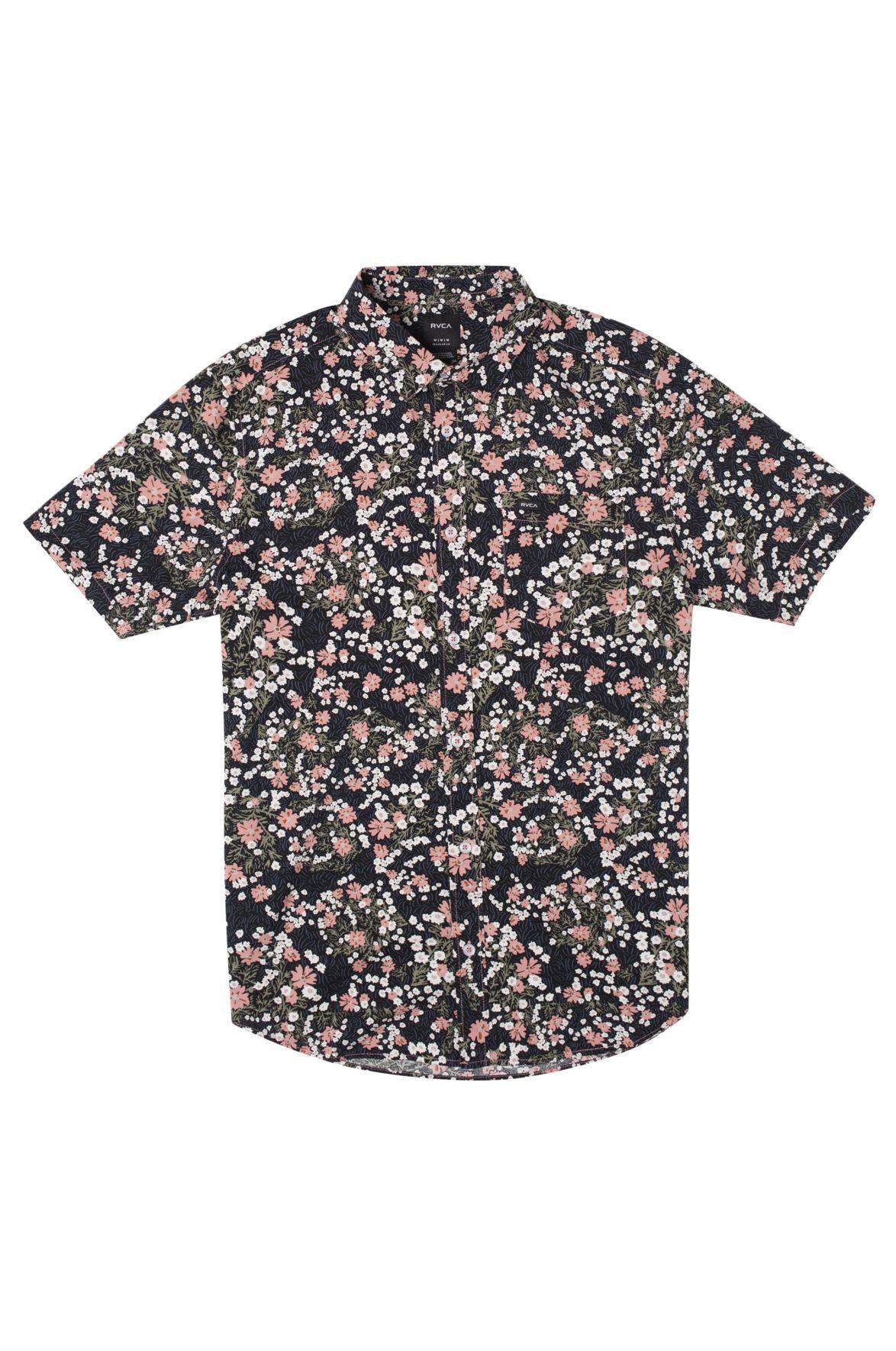 Camisa RVCA BARITONE SS Flamingo