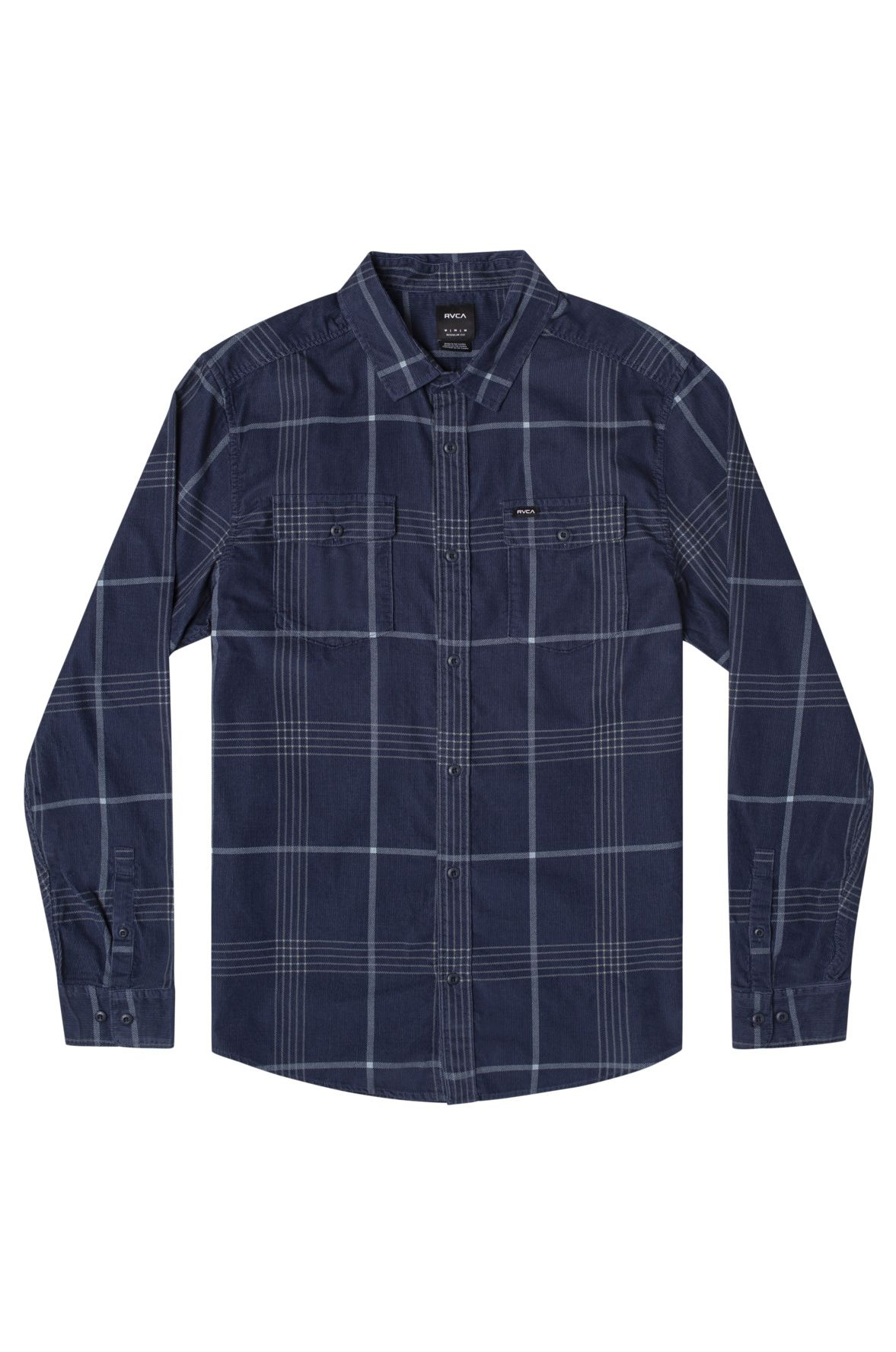 RVCA Shirt BLUES WALK CORD LS Moody Blue