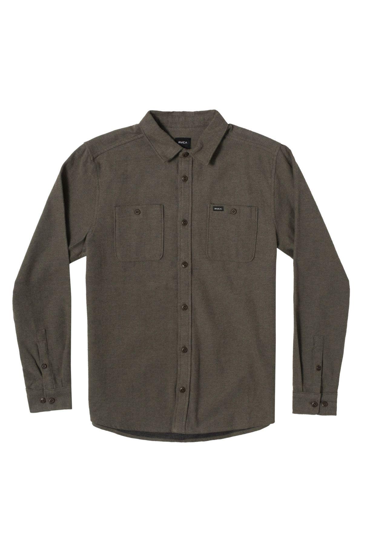 RVCA Shirt HARVEST FLANNEL LS Olive