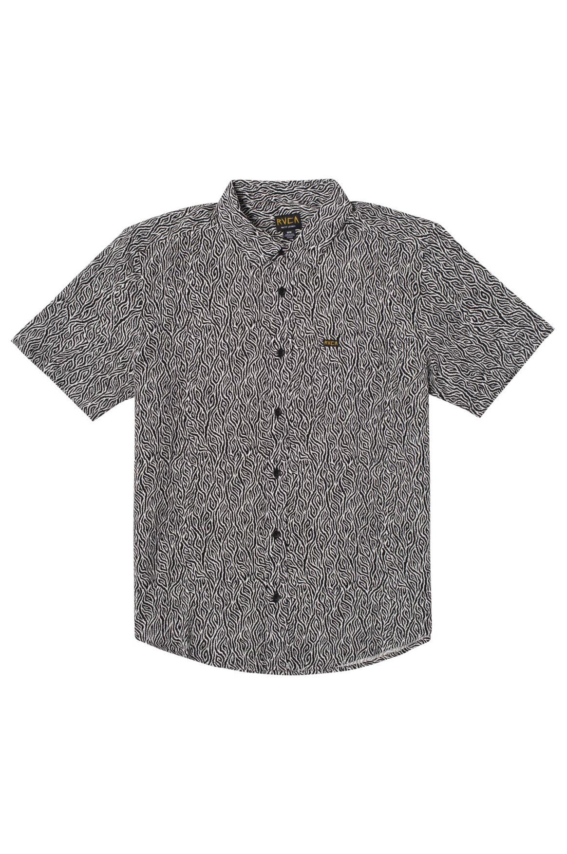 Camisa RVCA MATT LEINES SS Black/White