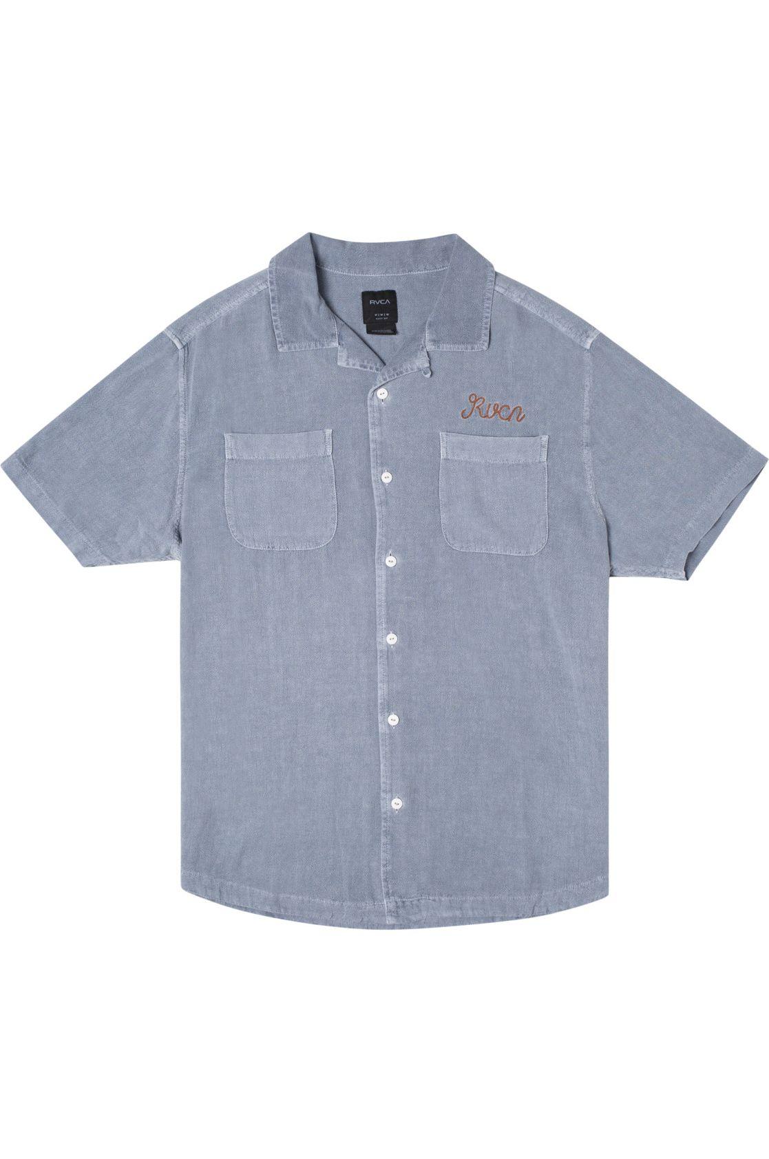 RVCA Shirt W 16TH ST SS EVAN MOCK Slate