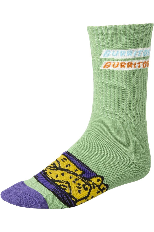 RVCA Socks HOT FUDGE CREW Green