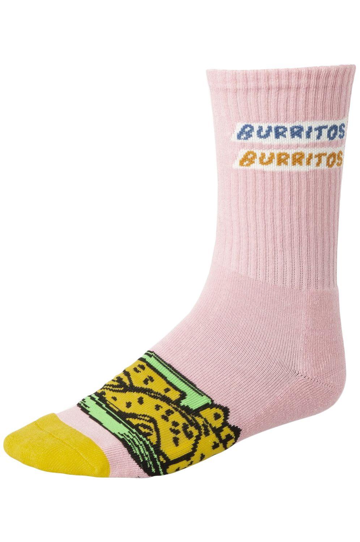 RVCA Socks HOT FUDGE CREW Pink