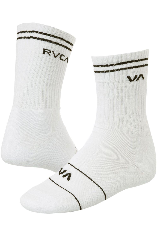 Meias RVCA UNION SKATE SOCK White
