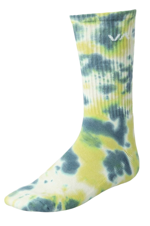 RVCA Socks TIE DYE CREW SOCK Green