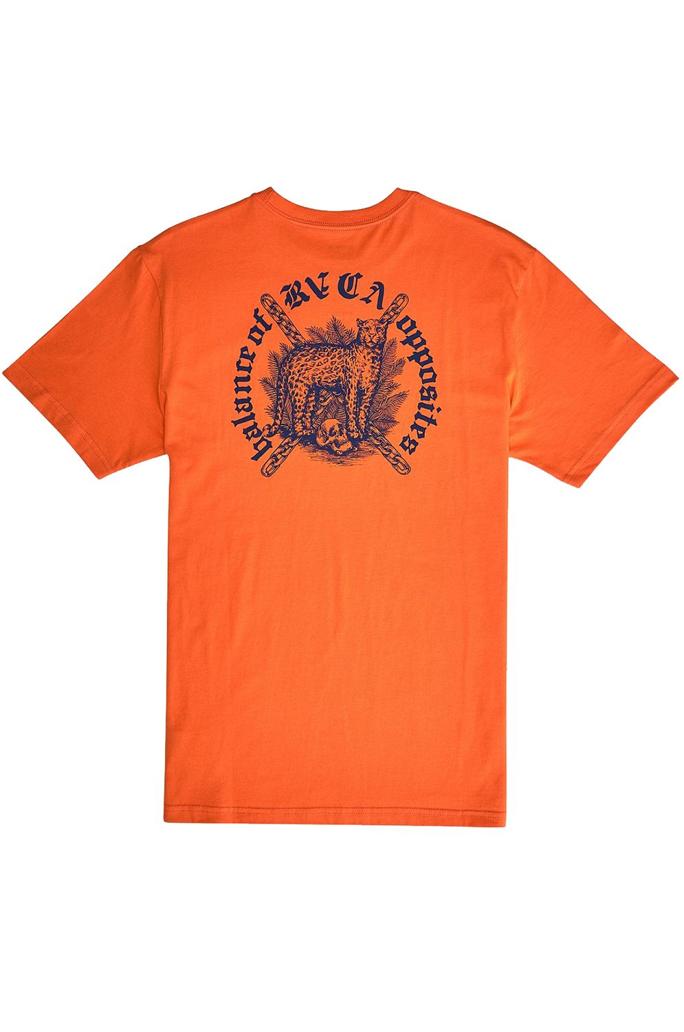 T-Shirt RVCA WILDCAT BENJAMIN JEAN JEAN Bright Orange