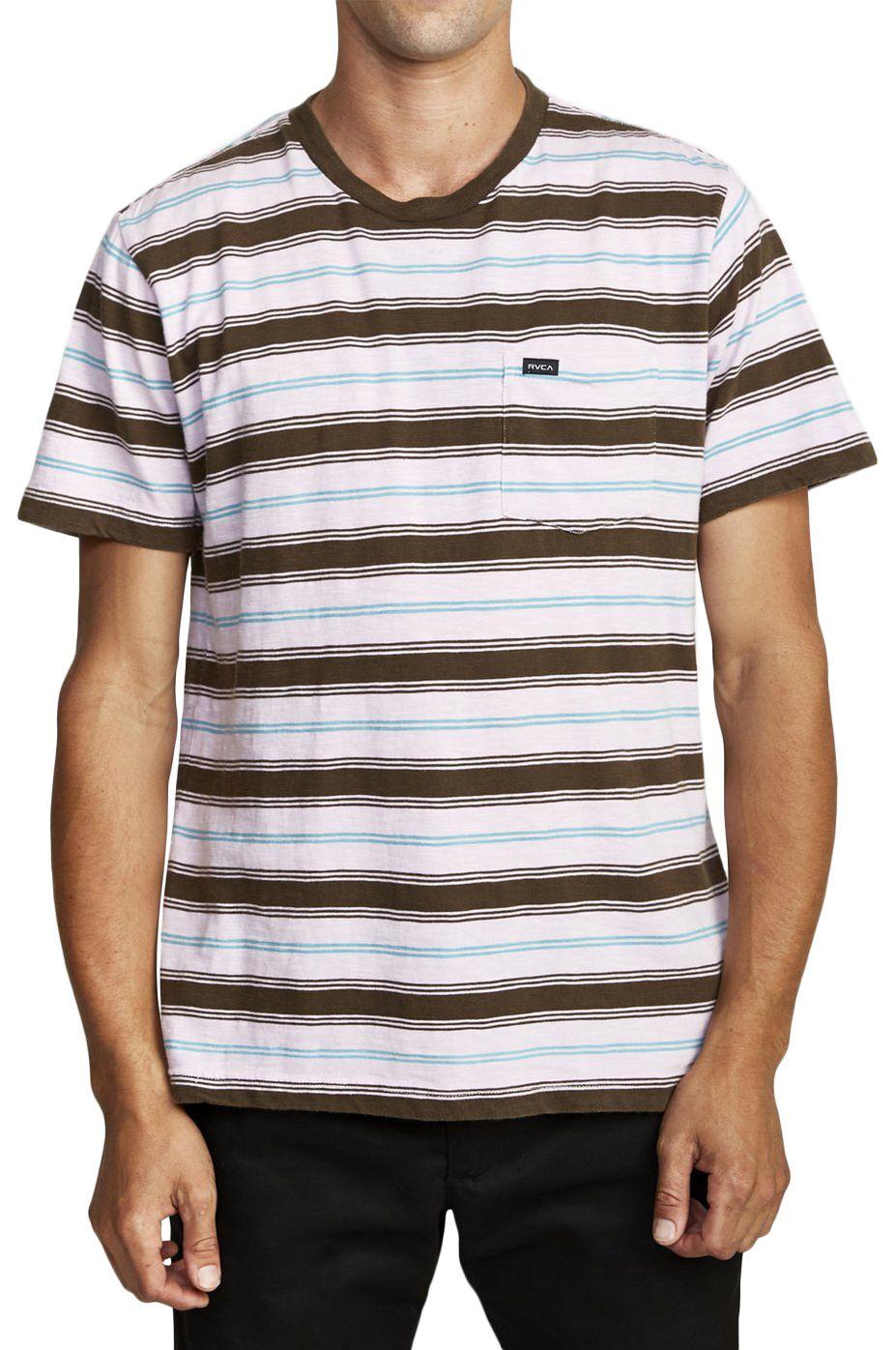 T-Shirt RVCA DAVIS STRIPE Pale Lilac