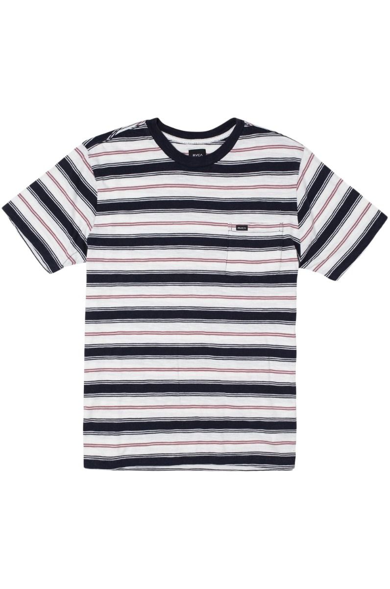 T-Shirt RVCA DAVIS STRIPE Antique White