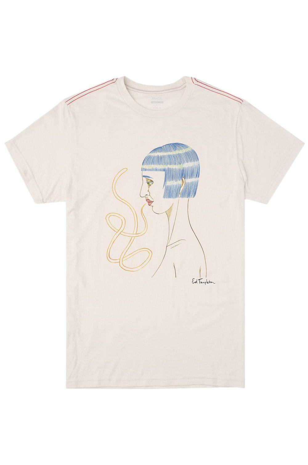 T-Shirt RVCA ED SPEAK ED TEMPLETON Antique White