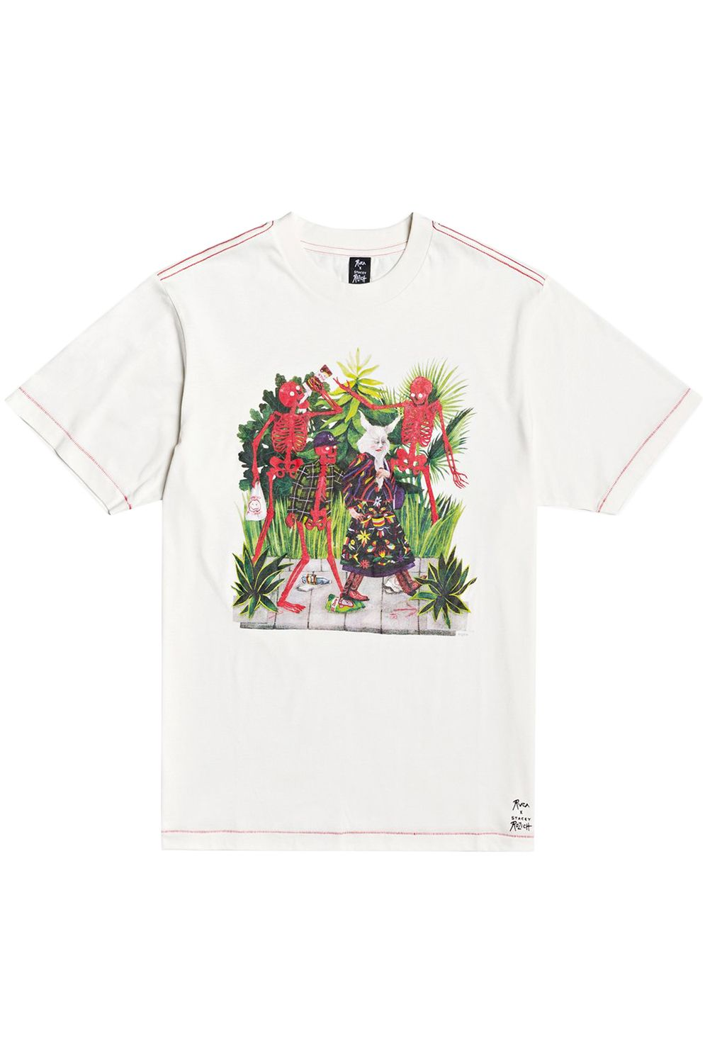 T-Shirt RVCA BONE BOYS SS TEE STACEY ROZICH Antique White