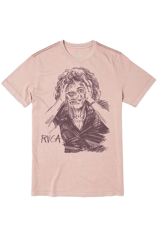 RVCA T-Shirt CHANGING FACE SS BEN HORTON Pale Mauve