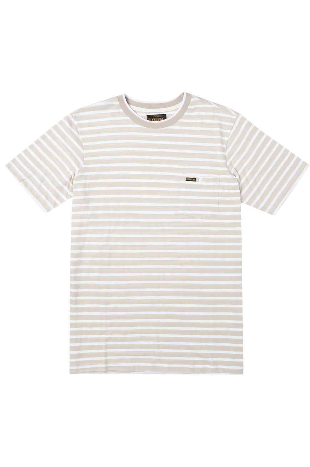 T-Shirt RVCA BAKER STRIPED SS Bone