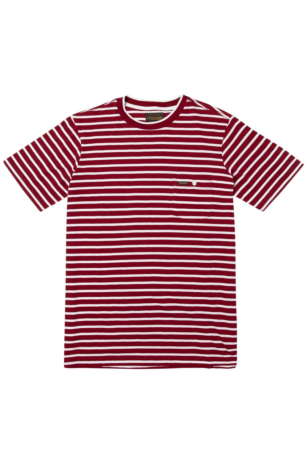 T-Shirt RVCA BAKER STRIPED SS Bright Red