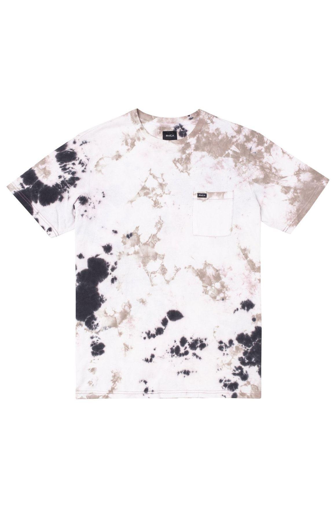 T-Shirt RVCA MANIC TIE DYE CREW Pale Mauve