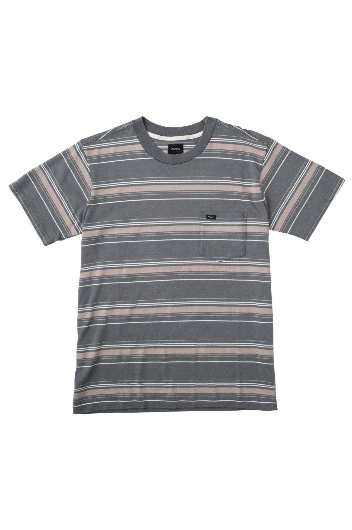 T-Shirt RVCA BEZ STRIPE SS Balsam Green