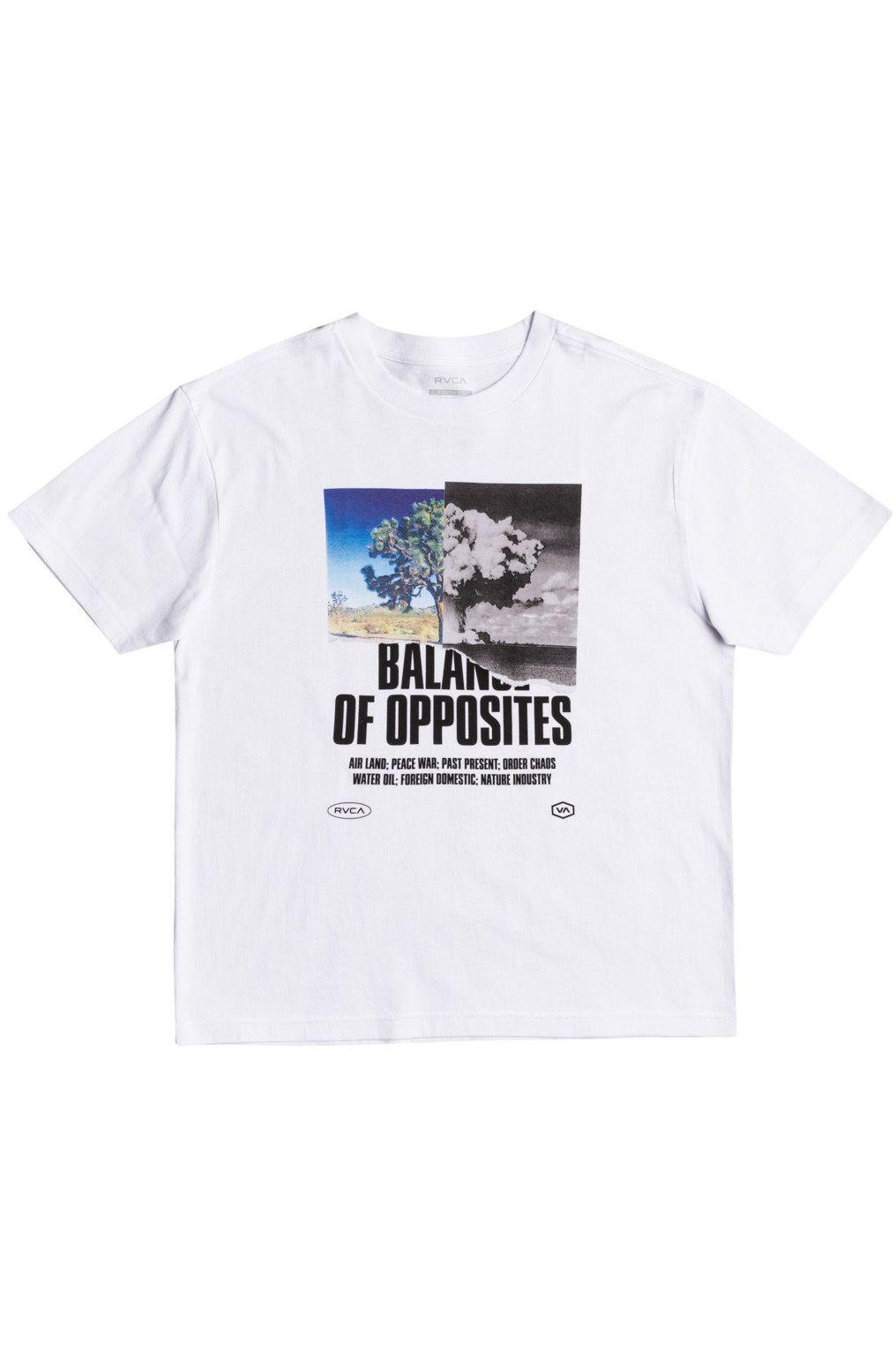 T-Shirt RVCA SPLIT TRUTH White