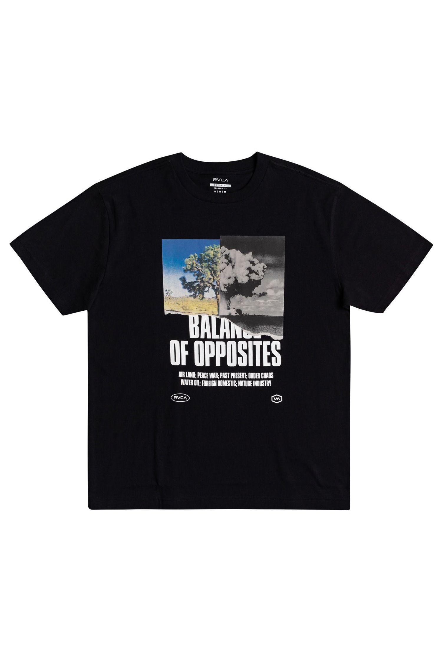 T-Shirt RVCA SPLIT TRUTH Black