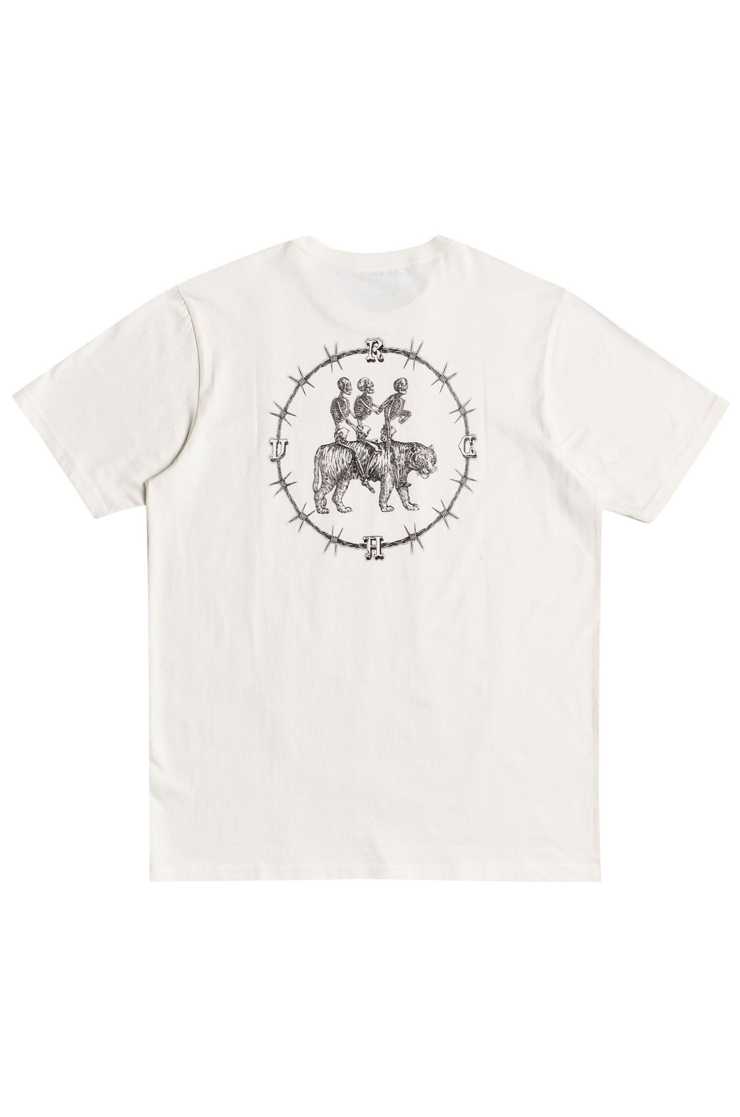 T-Shirt RVCA SKELETON WALK BENJAMIN JEAN JEAN Antique White